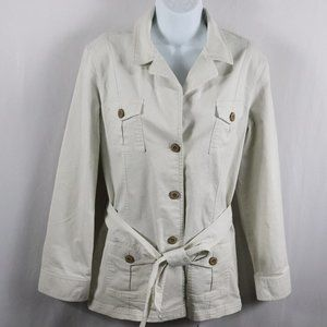 Talbots Stretch Jean Button Down Jacket Size 12